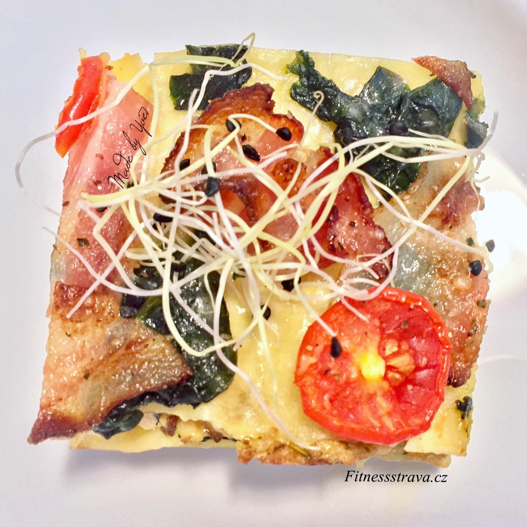 Tofu lasagne se špenátem.