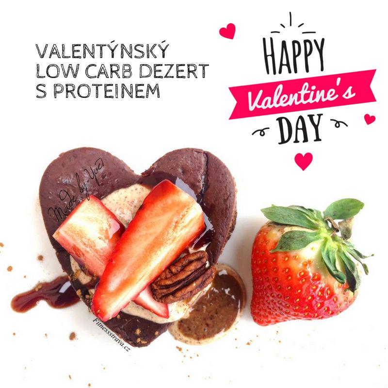 Valentýnský low carb dezert z fazolí