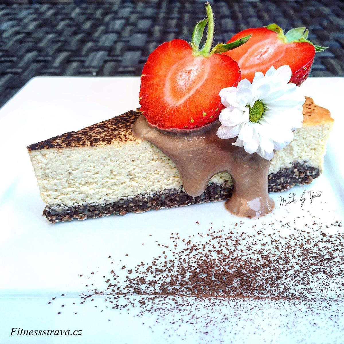 Tofu malinový cheesecake s proteinem