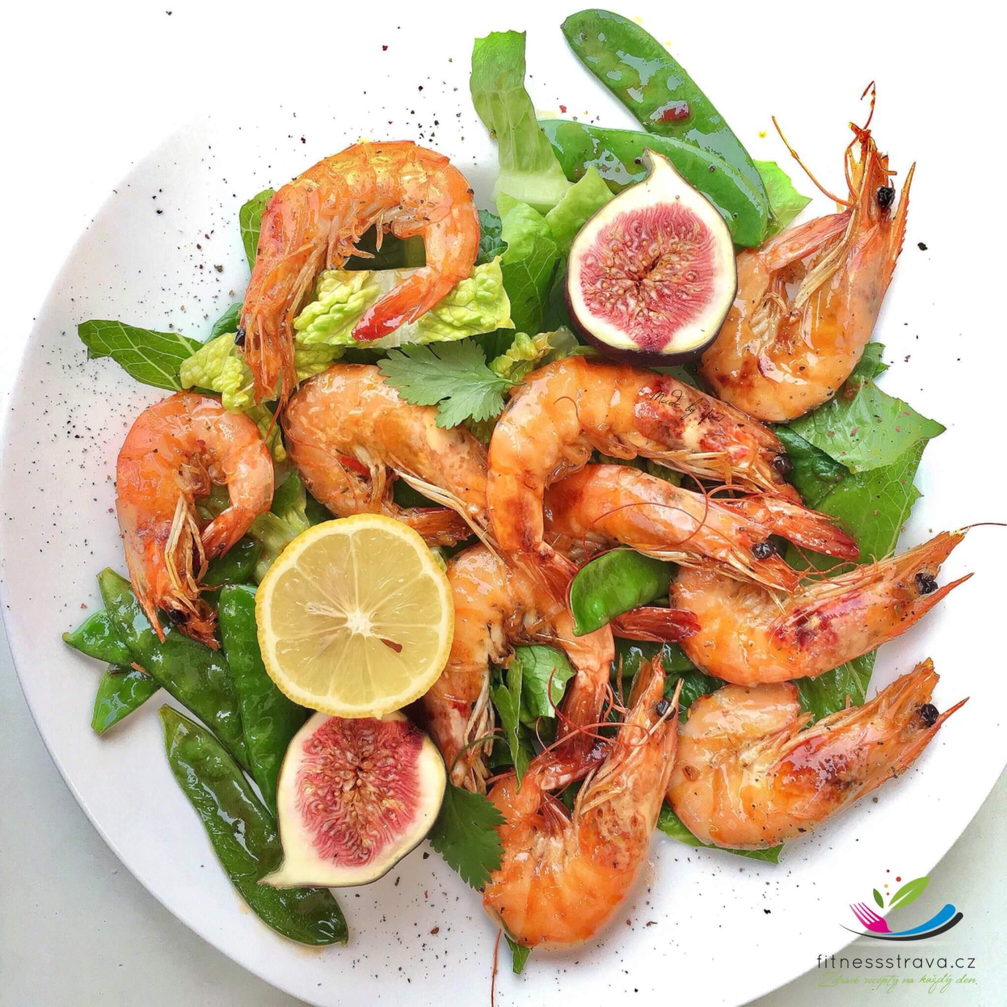 Krevetový salát s pikantní marinádou