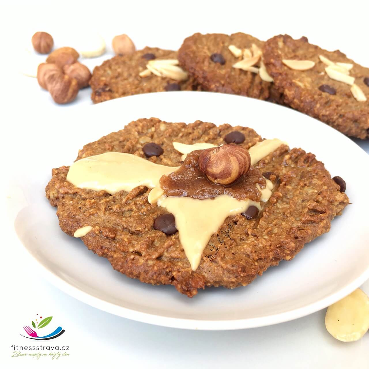 Zdravé sušenky čoko oříškové cookies